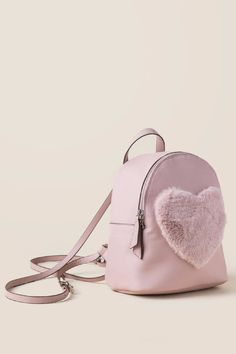 81669b5b25 Florence Blush Heart Mini Backpack- Blush side Forever 21 Outfits