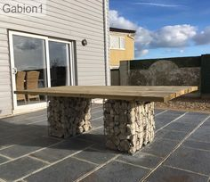 gabion outdoor table supports http://www.gabion1.co.uk