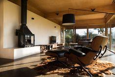 Buxton Rise Roof Design, House Design, Laminated Veneer Lumber, Victorian Parlor, Freestanding Fireplace, Masonry Wall, Australian Architecture, Fireplace Design, Cabin Fireplace
