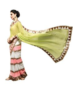 Multicolor Lace Work Saree To know more or buy, please click Below:- http://www.ethnicstation.com/multicolor-lace-work-saree-vl1772  #CashOnDelivery