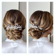 This Pin was discovered by Bridal Star wedding hair accessories. Discover (and save!) your own Pins on Pinterest. Wedding Hair Clips, Wedding Hair Pieces, Bridal Hair Vine, Bridal Veils, Headpiece Wedding, Bride Hair Accessories, Wedding Hairstyles, Pearl Bridal, Hair Accessory