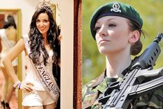 Miss England is a Lance Corporal in their military! AWESOME
