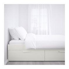 BRIMNES Estructura cama&almacenaje, blanco - 160x200 cm - - - Ikea OFERTA