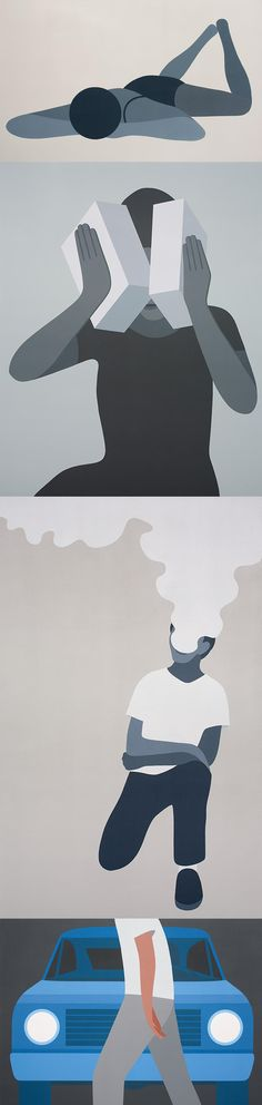 """Geoff McFetridge """"It Looks Like It Says"""" Exhibition @ Joshua Liner Gallery  The artist's simple iconic imagery hits NYC."""