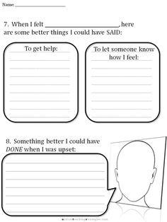 CBT Children\'s Emotion Worksheet Series: 7 Worksheets for Dealing ...