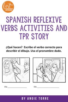 """The #ReflexiveVerbsActivities in order are: (For Spanish II) list of verbs; put activities in order to solidify meaning; practice """"me despierto"""" vs. """"despierto a otra persona""""; competition; practice with """"le"""" and competition with """"le""""; practice certain verbs with accompanying prepositions (me quejo DE..); practice for test. So much more but no room to list it all. Digital versions included! Ap Spanish, Spanish Lessons, Comprehensible Input, French Teacher, Prepositions, Student Engagement, Lesson Plans, Persona, Vocabulary"""