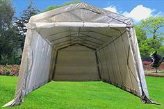 24'x13' Carport Grey/White - Heavy Duty Waterproof Garage Storage Canopy Shed Car Truck Boat Carport PE - By DELTA Canopies > HEAVY DUTY TOP & WALLS, 100% WATERPROOF! GALVANIZED POLES, RUST & CORROSION RESISTANT Sold exclusively by DELTA Canopies Check more at http://farmgardensuperstore.com/product/24x13-carport-greywhite-heavy-duty-waterproof-garage-storage-canopy-shed-car-truck-boat-carport-pe-by-delta-canopies/