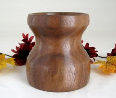 Walnut Candle Holder by DebsWoodshop on Etsy, $30.00