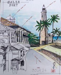 Fort de Galle Sri Lanka #Stillman&Birn # watercolor # aquarelle # sketch # travel journal # carnet de voyage # Sri Lanka