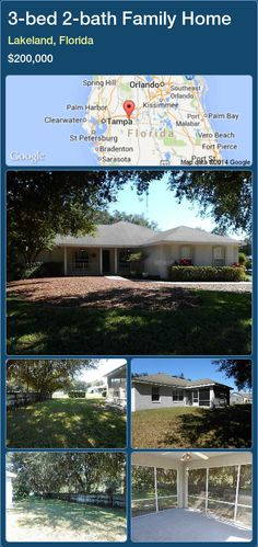 3-bed 2-bath Family Home in Lakeland, Florida ►$200,000 #PropertyForSaleFlorida http://florida-magic.com/properties/66032-family-home-for-sale-in-lakeland-florida-with-3-bedroom-2-bathroom