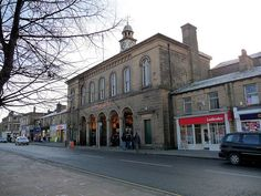 The town hall and market, Glossop, Derbyshire. The time on the clock-tower is right. Peak District, Derbyshire, Town Hall, Birth, Wanderlust, Tower, Street View, Spaces, Adventure