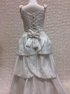 Beautiful first communion satin dress,