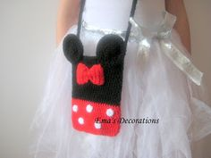 Ema's Decorations: Minnie Mouse Crochet Bag