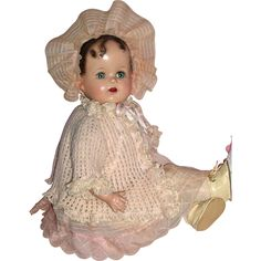 """Early Ideal – Miracle on 34th Street Doll 18"""" A/O from animalcrackers on Ruby Lane"""