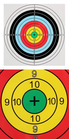40x40cm Bow&Arrow Shooting Archery Target Paper bullseye target face for recurve bow outdoor sport hunt shoot accessories