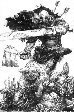 ComicList: Image Comics New Releases for Art And Illustration, Comic Books Art, Comic Art, Dark Fantasy, Fantasy Art, Drawing Sketches, Art Drawings, Ink Art, Vikings