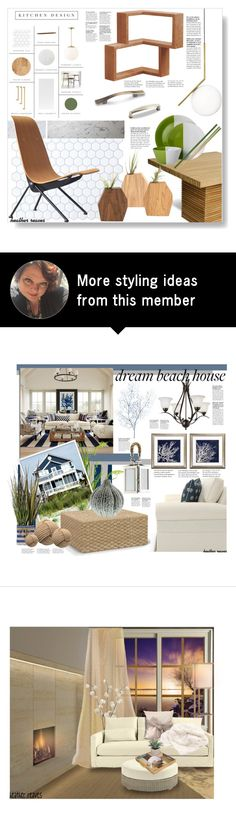 """""""Modern Kitchen"""" by heather-reaves on Polyvore featuring interior, interiors, interior design, home, home decor, interior decorating, Flos, Elements, Room Essentials and kitchen"""