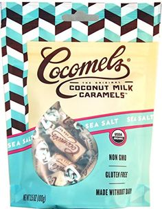 Sea Salt Cocomels Coconut Milk Caramels - Organic - Made Without Dairy - Kosher - GMO Free - Sea Salt 1 Pack Organic Coconut Milk, Organic Brown Rice, Healthy Smoothies, Smoothie Recipes, Individually Wrapped Candy, Happy Vegan, Happy Healthy, Vegan Shopping, Frozen Banana