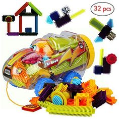 Product review for Educational toys by BLAGOO Building Blocks for Boys & Girls 3, 4, 5, 6, 7+ Years Old for Kids Toddlers Plastic Construction 10 Colors 32 pcs Car Set -  Let your kids express their creativity with Blagoo Educational Building Blocks. The combination of 10 playful colors, addictive tactile shapes and easy stacking technology make this set a great toy for kids over the age of 3. Your kids will enjoy building the most creative shapes and figures... -  http://w