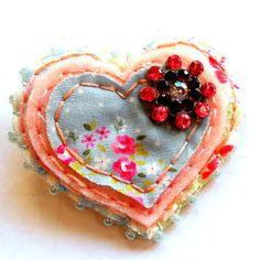 Items similar to Felt brooch jewelry jewellery heart shaped uk seller Pink Sparkler on Etsy Fabric Brooch, Felt Brooch, Handmade Items, Handmade Jewellery, Fabric Jewelry, Felt Art, Felt Ornaments, Heart Jewelry, Fabric Art