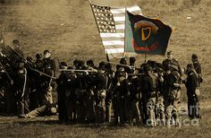 This image was taken at the 150th Reenactment of the Battle of Antietam in September of 2012. This is a close up shot of the Irish Brigade.