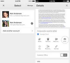 Google Drive for iOS gets multiple account support, single sign-in, printing via Google Cloud Print and AirPrint