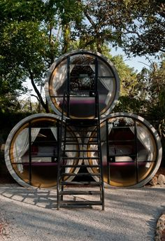 Hostels or drainage pipe camping? Pretty cool!