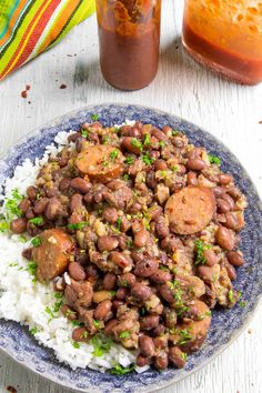 Red Beans and Rice is a classic Cajun comfort food recipe, with perfectly spiced beans simmered slowly in a pot with smoked andouille sausage, onions, bell peppers and celery, served up with rice for surprisingly complex flavor. Cajun Recipes, Bean Recipes, Chili Recipes, Rice Recipes, Cooking Recipes, Pepper Recipes, Delicious Recipes, Yummy Food, Bell Pepper Soup