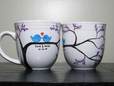 Beautiful couple mugs, you create for your owns.