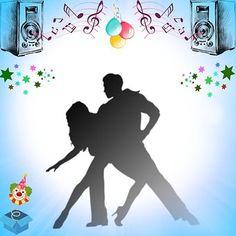 Danse couple couple de danseurs silhouette sur fond - Musique danse de salon gratuite ...