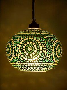 Club Tropicana Mosaic Lantern