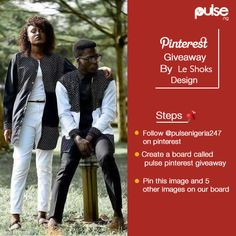 How to Enter 1. Follow @pulsenigeria247 on Pinterest. 2. Create a new board on your page and tag it pulsegiveaway. 3. Pin this image and 5 other images. 4. Once your board is complete, leave a comment on our pinterest page with your board's URL. Entries close on the 31st of May and winners will be announced 1st of June, 2016.