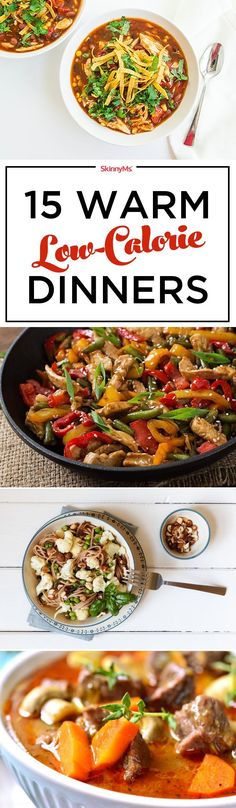 15 Warm Low-Calorie Dinners! #fall #lowcalorie #recipes