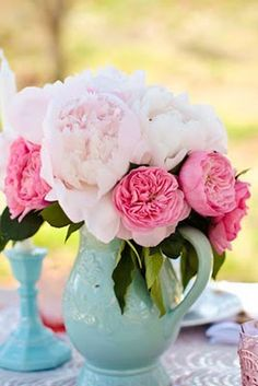 peonies for front desk