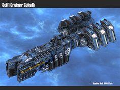 Scifi Cruiser Goliath by msgamedevelopment on DeviantArt