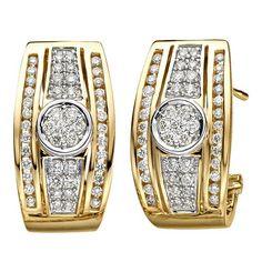 Moncara Diamant-Ohrstecker Gold 585 Gelbgold