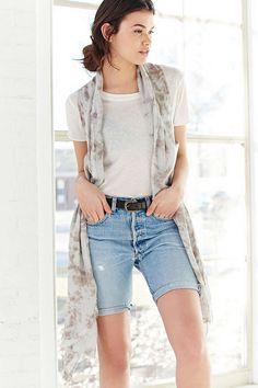 Outfitters Wrap Dye Moda Presupuesto Moda Urban Económica Bermudas Effect Vest Mujer De EZqwqTUIx