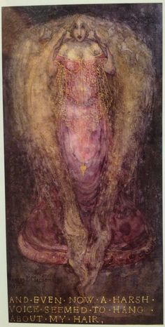 And even now a harsh voice seems to hang about my hair by Frances Macdonald MacNair (Scottish 1873-1921)