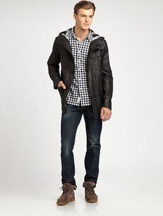 977288761b2 Rag   Bone - Black Lowman Hooded Jacket for Men - Lyst