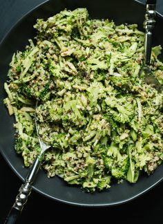 Quinoa Broccoli Slaw with Honey Mustard Dressing - cookieandkate.com