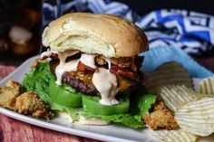 Alabama Beach Shack Burgers #justapinchrecipes
