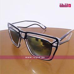 6a55518dc نظارة شمسية إطار بلاستيك سميك شفاف وأسود عدسة مربعة مرآة loqta.ps Black  Square,
