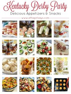 the Ultimate Kentucky Derby Party Menu Delicious appetizers, sweets and drinks to serve at your Kentucky Derby Party.Delicious appetizers, sweets and drinks to serve at your Kentucky Derby Party. Kentucky Derby Food, Kentucky Derby Betting, Kentucky Derby Party Ideas, Derby Dinner, Delicious Appetizers, Savory Snacks, Delicious Food, Derby Recipe, Southern Recipes