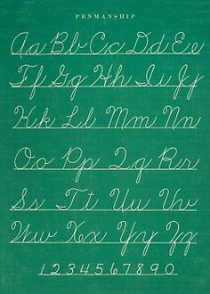 Back when they used to teach cursive writing in school