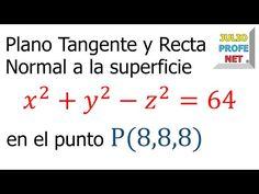 Plano Tangente y Recta Normal a una Superficie - Ejercicio 1 - YouTube