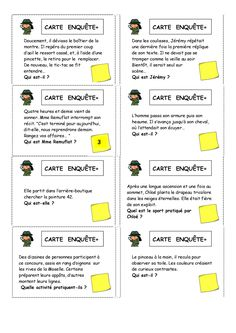 Working on inferences Language Study, French Language, Teaching French Immersion, Detective, Cycle 3, French Classroom, French Lessons, Learn French, Teaching Tools