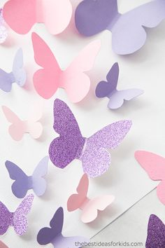 Template Paper Butterfly Template and a lot of other amazing ideas.Paper Butterfly Template and a lot of other amazing ideas. Butterfly Mobile, Butterfly Wall Art, Paper Butterflies, Butterfly Design, Paper Flowers, Butterfly Knife, Purple Butterfly, Butterfly Template, Origami Butterfly