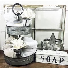 I've rounded up awesome rustic farmhouse bathroom decor inspiration ideas to help inspire you to take on a bathroom makeover. Browse Most Beautiful Farmhouse Bathroom Decor and Design Ideas You Will Go Crazy For Decor, Bathroom Design Decor, Galvanized Decor, Bathroom Remodel Master, Bathroom Farmhouse Style, Modern Bathroom Decor, Bathroom Design, Farmhouse Bathroom Decor, Rustic House