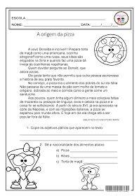 A Origem Da Pizza Locucao Adjetiva Adjetivos Grau Do Adjetivo