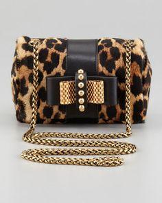 Christian Louboutin Sweet Charity Leopard-Print Calf Hair Crossbody Bag on shopstyle.com